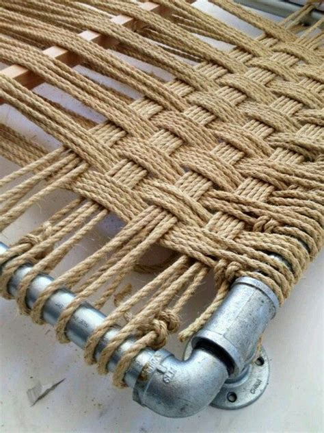 rope weaving   headboard crafty ideas pinterest