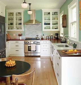 simple classic style farmhouse kitchen With kitchen colors with white cabinets with apartment therapy wall art