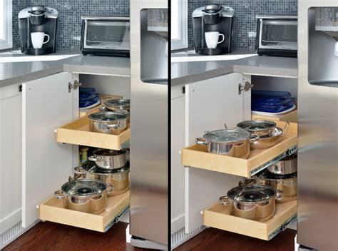 hidden corner kitchen cabinet toronto  gliding shelf