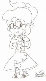 Poodle Coloring Skirt 50s Template Deviantart Jeanette Miller Sock Hop Popular sketch template