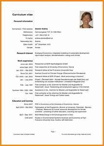 8 curriculum vitaepdf odr2017 With latest cv format pdf
