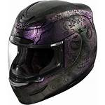 Purple Helmet Motorcycle Icon Face Racing Opal