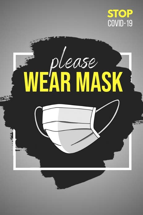 Copy of wear mask poster, covid-19 | PosterMyWall