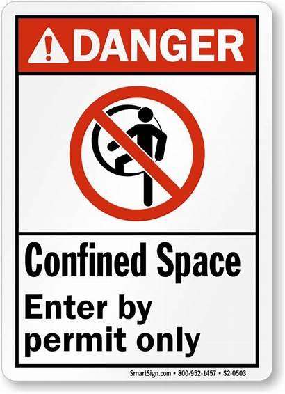 S2 Confined Space Danger Permit Enter Mysafetysign