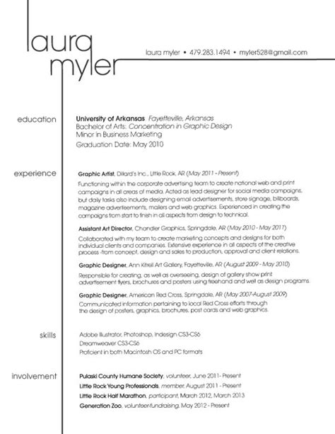 Resume Layout by Great Use Of A Name To Become Details Within The Layout Of