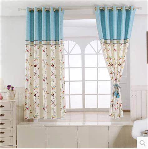 1pc 2 color curtain half shade curtains for the