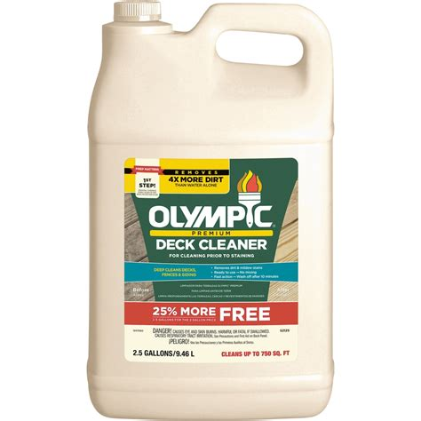 shop olympic  fl oz deck cleaner  lowescom