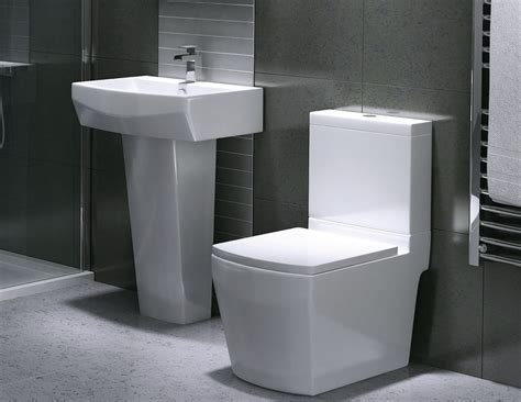 Modern Bathroom And Toilet by Edwards Contemporary Designer Ceramic Square Toilet