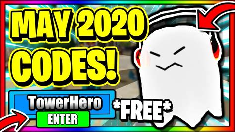 All working codes in tower heroes roblox tower heroes codes roblox ✅ in this video i will be showing you awesome new working codes in tower heroes for the new halloween. (MAY 2020) ALL *NEW* SECRET OP WORKING CODES! Roblox Tower ...