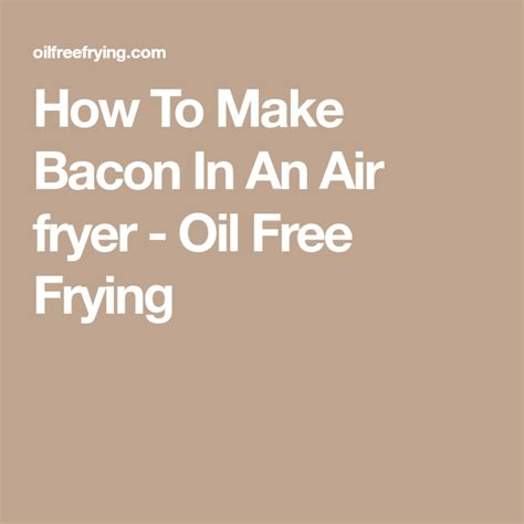 fryer air oil bacon wax seals step
