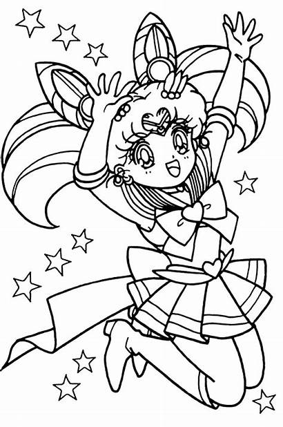 Sailor Moon Coloring Stars Pages Chibi Pretty