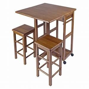 Winsome Kitchen Breakfast Bar Island Table Nook Wood Drop