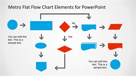 metro style flow chart template  powerpoint slidemodel