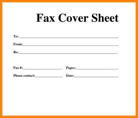 basic fax cover sheet all information about basic fax