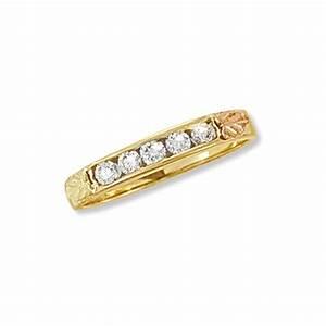 10K Black Hills Gold .25Tw Diamond Engagement Ring ...