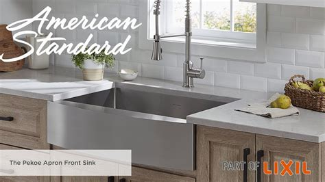 apron front kitchen sink the pekoe apron front kitchen sink from american standard