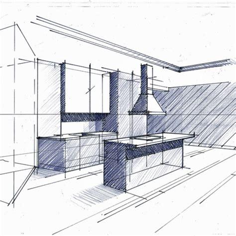 croquis cuisine comment lire un plan d 39 architecte cuisine minimaliste