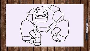How to draw Golem from Clash of Clans troops step by step ...
