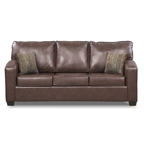 value city furniture sleeper sofa brookline queen memory foam sleeper sofa brown value