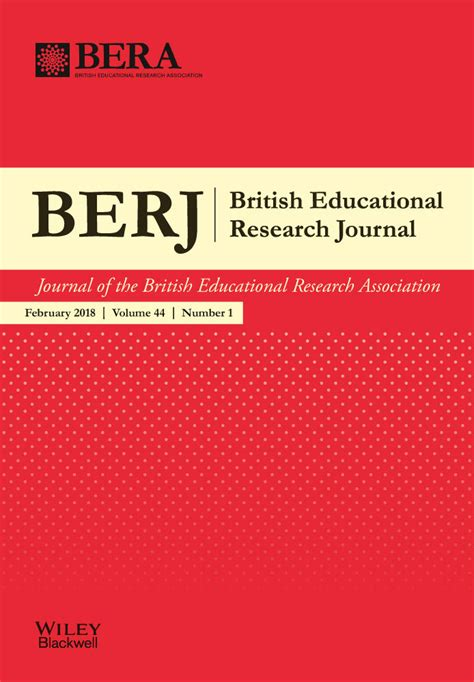 british educational research journal wiley  library
