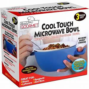 Handy Gourmet Jb5655 Cool Touch Microwave Bowl  Blue  White
