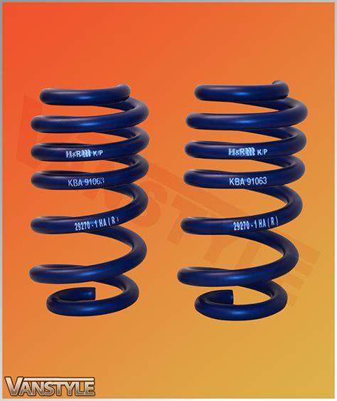 lowering sports springs mm vw   vanstyle
