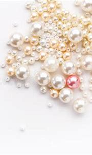 Pile Of Colorful Pearl On White Background Stock Image ...