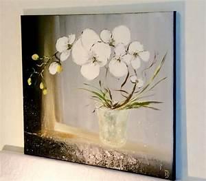 Bouquet Fleurs Blanches : tableau peinture bouquet d 39 orchi orchid es blanches ~ Premium-room.com Idées de Décoration