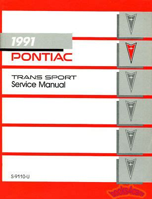 auto repair manual online 1991 pontiac trans sport instrument cluster shop manual service repair 1991 pontiac trans sport transport transsport book ebay