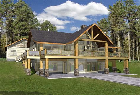 mountain home wrap deck gh architectural designs house plans