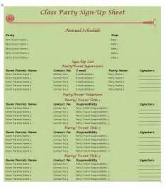 Potluck Sign Up Sheet Template
