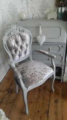 crushed velvet dressing table chair  beautiful crystal