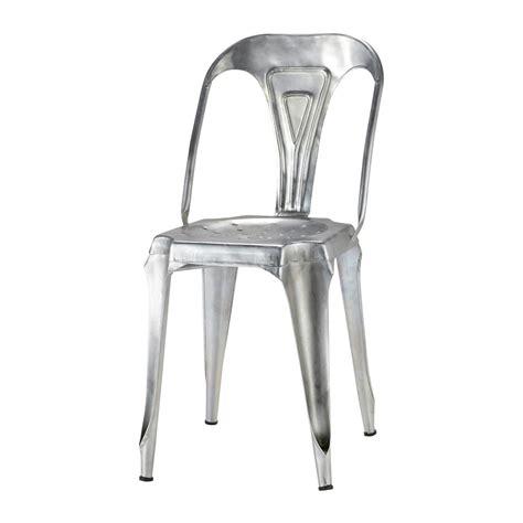 chaise acier chaise indus en acier galvanisé multipl 39 s maisons du monde