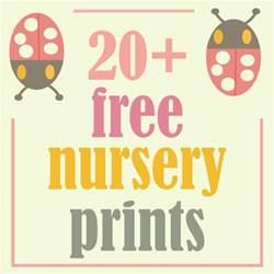 more than 20 free nursery printables room