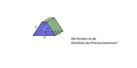 netz eines prismas grundflaeche gleichschenkliges trapez