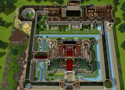 housing blueprints floor plans mod the sims castle inspired by ocarina of