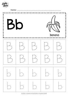 free letter b tracing worksheets