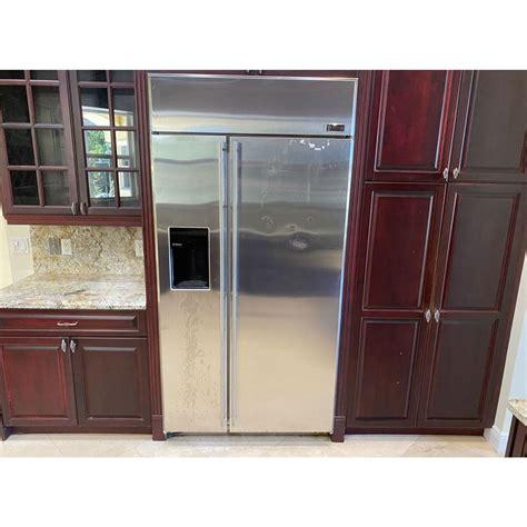 ge monogram  stainless side  side refrigerator