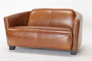 Canapé Cuir Cognac : canap cuir cigare cognac mobilier ~ Teatrodelosmanantiales.com Idées de Décoration
