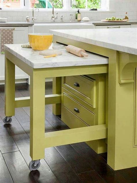 The two pieces have been carefully combined to create a clever and functional blend that aesthetically complements the space kitchen island with extension chopping table | For the Home | Pinterest