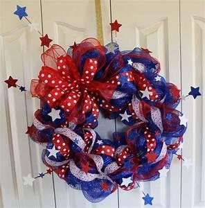D Day Deco : patriotic 4th of july deco mesh wreath memorial day red ~ Zukunftsfamilie.com Idées de Décoration