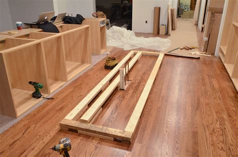 installing a kitchen island faith 39 s kitchen renovation how we assembled installed