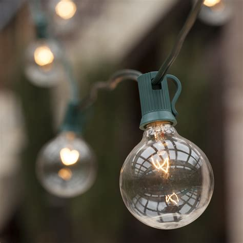 patio lights commercial clear globe string lights
