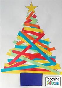 Paper Strip Christmas Trees