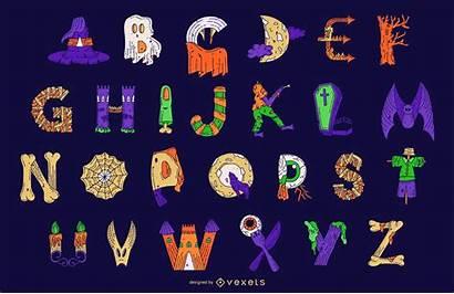 Halloween Alphabet Letra Letter Colorido Alfabeto Buchstaben