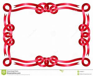Red Ribbon Frame Isolated On White Stock Vector Illustration of beautiful, artistic: 23388077