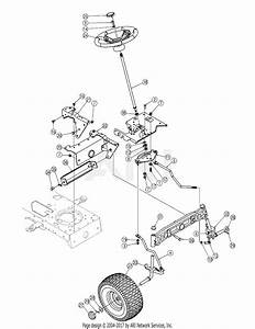 Mtd 13ar606p730  2005  Parts Diagram For Steering Assy