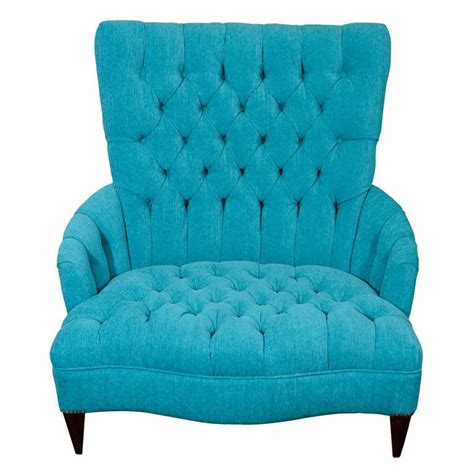 tufted leather chair turquoise x dsc3588 jpg