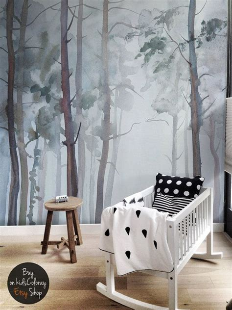 Kinderzimmer Wandgestaltung Wald by Nature Forest Wall Mural Peel And Stick Gloomy Trees