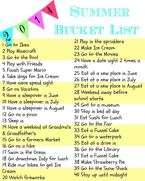 bucket list weekend wandering living well spending less 174